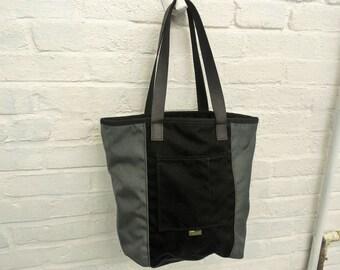 aa84b023e882d Weekender Tote - by Union Bag Co., USA Made, Heavy Duty Cordura, Coal Gray  & Black