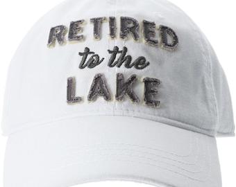 d753e604 Retired to the Lake Adjustable Unisex Baseball Hat Cap