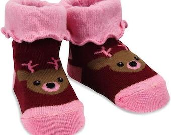 fe7df311d3c Pink Camouflage Deer Baby Socks by Izzy   Owie