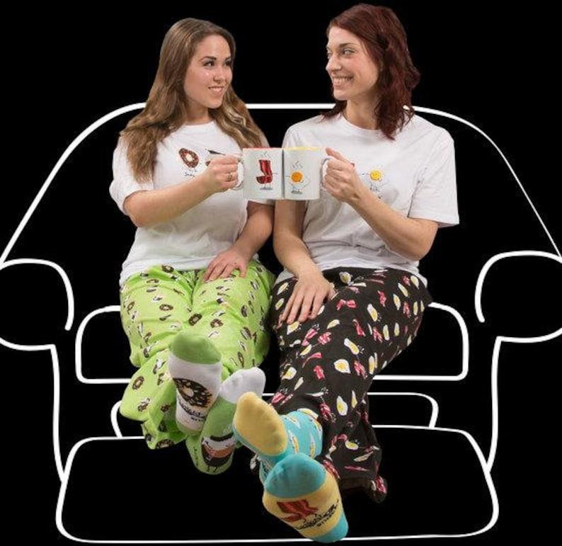 HOT Bacon and Eggs Breakfast Men/'s /& Women/'s Black Unisex Lounge Pajama Pants