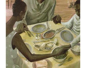 Grace   John Holyfield   African American Art   Black Art   Fine Art   Limited Edition    UNFRAMED   Family   Tradition
