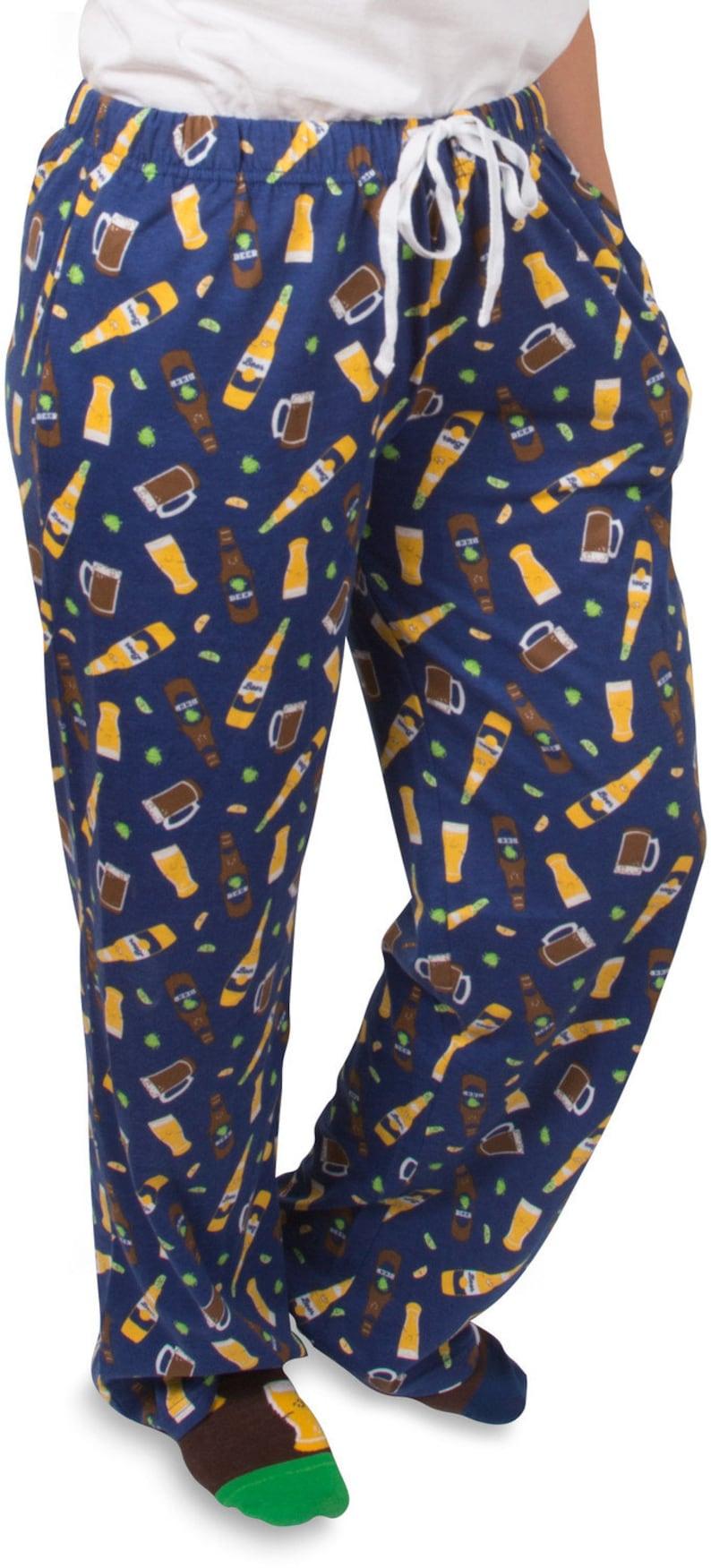 Beer  FUNNY  Mens  Womens  Pajama Bottoms  Pajama Pants  image 0