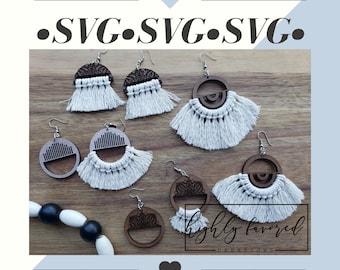 Mandala Earring bundle SVG