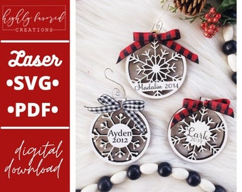 Snowflake Ornament SVG