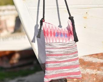 Boho Crossbody Bag. Bohemian Messenger bag. Handloomed Bag. Unique Gift for Women