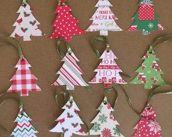 "12 - 2 1/2"" Christmas Tree Tags T2"