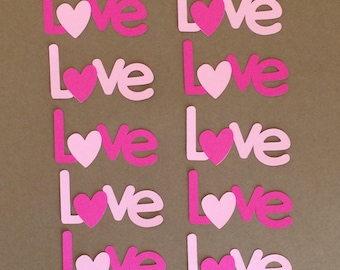 10 Love Die Cuts for Paper Crafts  Set #5611