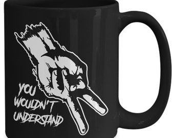 Biker chick gifts ||Biker knows you wouldn't understand black coffee mug||Biker chick gifts for her||Motorcycle lover gift||motorcycle lover