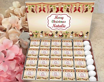 Merry Christmas Personalized Chocolates
