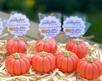 READY TO SHIP - Pumpkin Soap Favors - Pumpkin Baby Shower Favors Little Pumpkin Soap Baby Shower Fall Bridal Shower Soap Pumpkin Party Favor