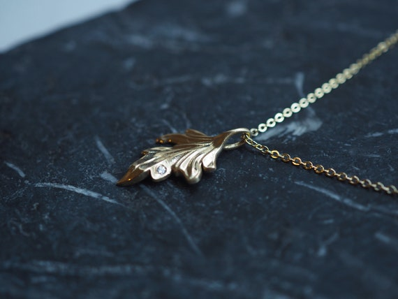 and Solid 10K and 14K Gold Flutter Butterfly Fairy Elven Angel Wing Necklace in Sterling Silver
