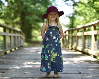 Girls maxi dress - toddler maxi dress - girls summer maxi dress - maxi dress for girls - summer dress for girls - maxi dress for toddlers