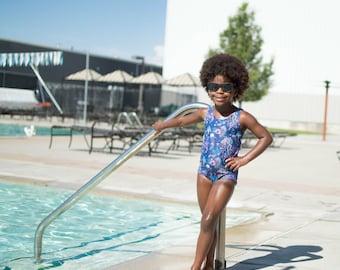 Girls bathing suit - girls swimsuit - toddler bathing suit - girls one-piece swimsuit - girls one-piece bathing suit