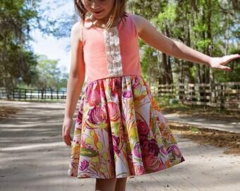 Girls summer dress - girls summer outfit - summer dress for girls - summer dress - girls summer clothing - girls twirl dress - toddler dress