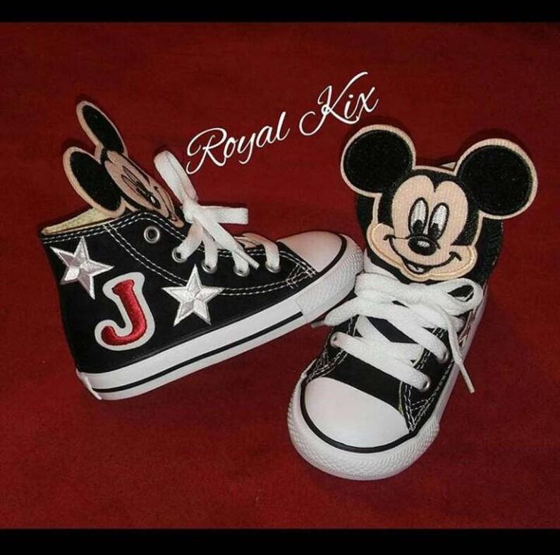 1e1700b9196d2d Mickey Mouse Converse   Chucks   Birthdays   Black   Shoes