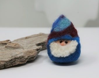 Blue Skies Ahead! Cool Blue Needle Felted Gnome from Orcas Island,All Wool! Handcrafted with Love!   #spreadthelove