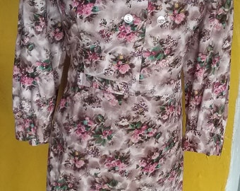60s floral day dress