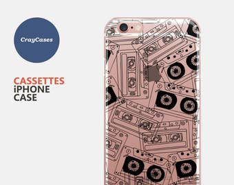 Cassettes Pattern iPhone Case, Pattern iPhone 6s Plus Case, Pattern iPhone 7 Case, Pattern iPhone 6 Plus Case (Shipped From UK)