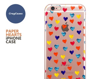 Hearts iPhone 7 Case, Hearts iPhone 7 Plus Case, Also Available for 6, 6s, 6 Plus & 6s Plus (Shipped From UK)