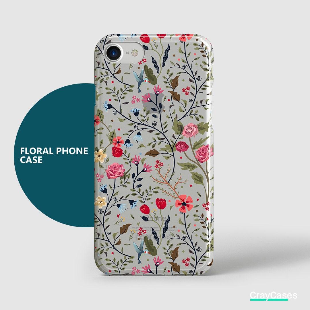 Floral Iphone 7 Case Floral Iphone Case Iphone 7 Case Etsy