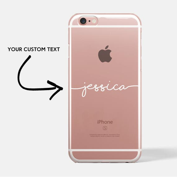 Personalised phone case personalized iphone 8 case  2be0b63e0
