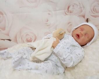 Custom made to order Cozy reborn doll by Linda Smith reborn baby girl or boy doll