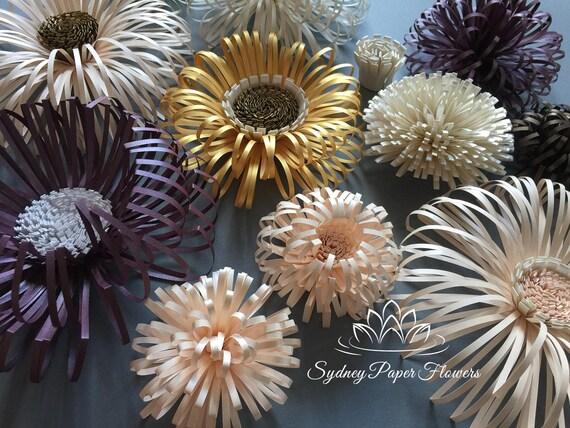 Paper Flower Centres Tutorial Svg Pdf Cricut Silhouette Cameo Files Download Download Diy Paper Flower Centre Template Pattern
