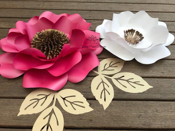 files only wild rose paper flower template with pdf svg