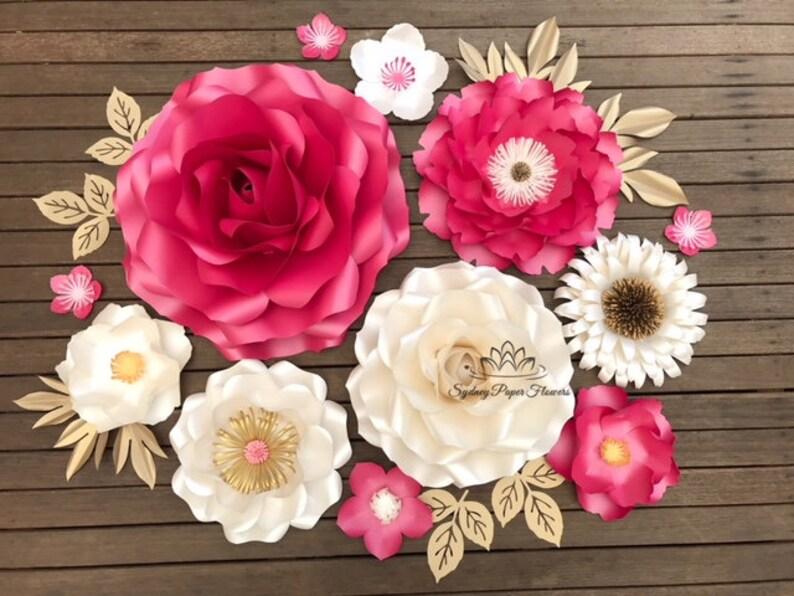 Peony Rose Paper Flowers Bundle 1 Flowers Templates Video Tutorials Paper Flower Pattern Pdf Svg Diy Paper Flower Pattern Cricut Cameo