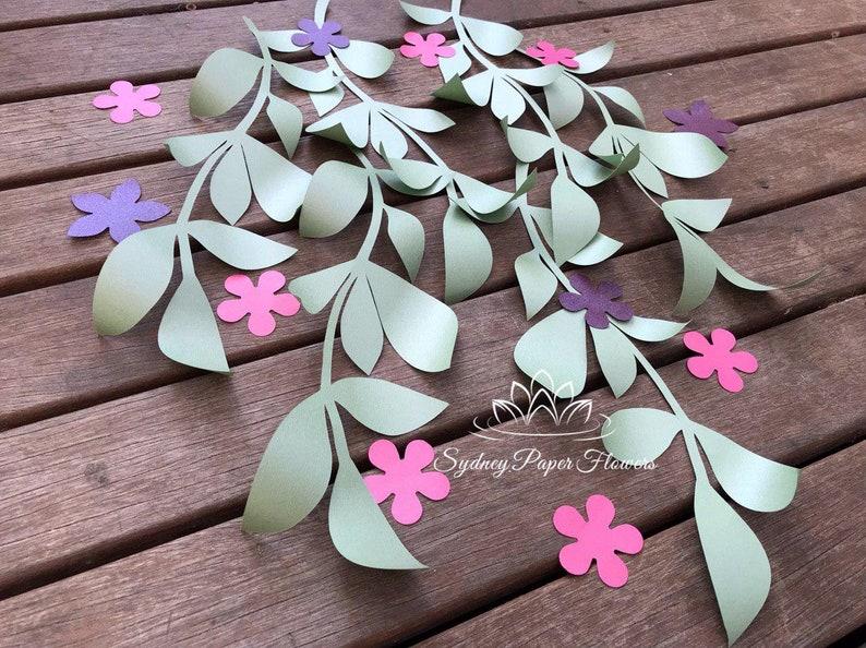 Long Paper Leaves Set 1 Template Video Tutorial Pdf Svg Studio Paper Flower Pattern Diy Paper Flower Backdrop Cricut Cameo Svg Paper Flower