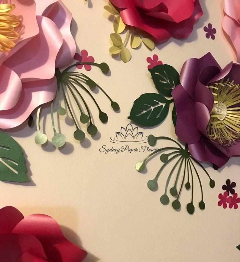 Dill Paper Flower Template Pdf Svg Studio Paper Flower Pattern Diy Paper Flower Backdrop Cricut Cameo Svg Paper Flower