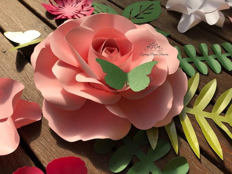 Rose Bud Paper Flower Video Tutorial Template Paper Flower Pattern Diy Paper Flower Paper Flower Backdrop Cricut Cameo Svg Paper Flower