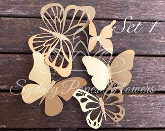 Paper BUTTERFLIES_set 1/Paper butterfly pattern/PDF svg paper butterfly/diy paper butterfly/Paper butterfly download Cameo CriCut