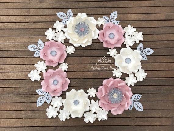 paper flowers bundle #2paper Flower Templates /& Video TutorialsPaper flower patternpdf svg paper flower patterndiy paper flower wall
