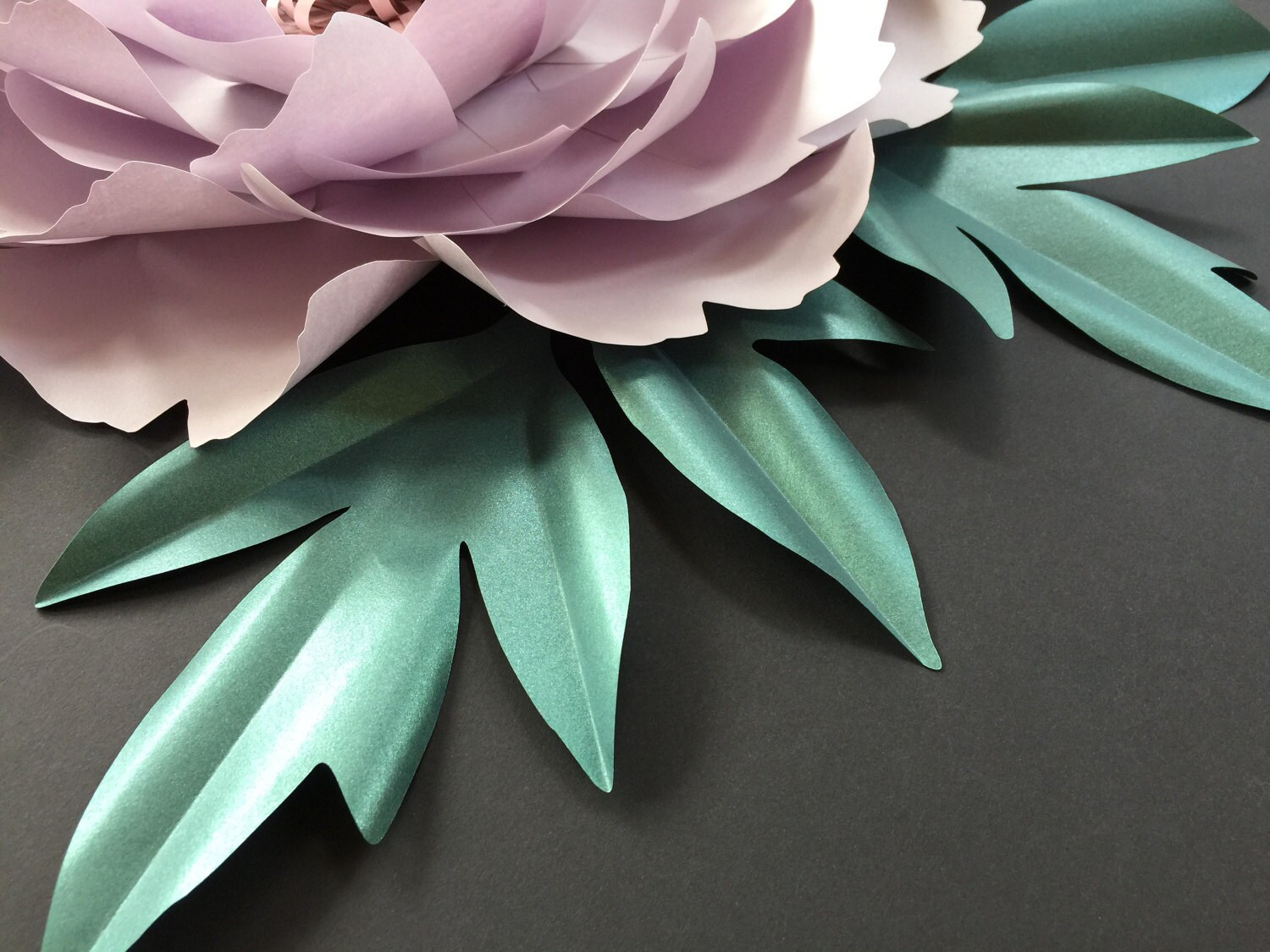 peony paper flower leaf template pdf svg pattern for cameo