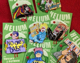 Women's March Enamel Pin Pack | Batman Pin Nasty Woman | Harley Quinn Pin gift christmas wife Batman Pin | Feminist Enamel Pin