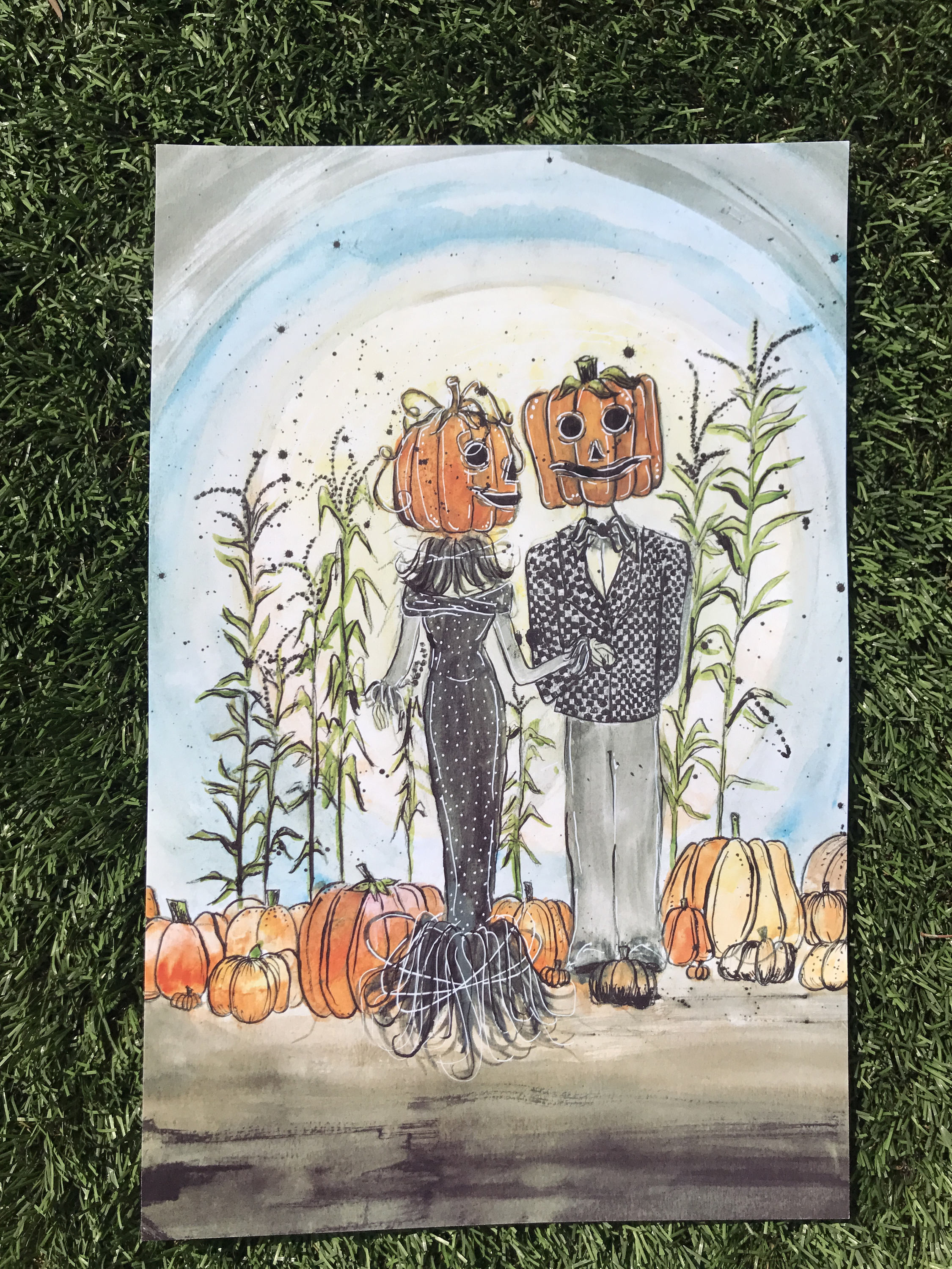 Nightmare Before Christmas Halloween Art Jack And Sally Trick R