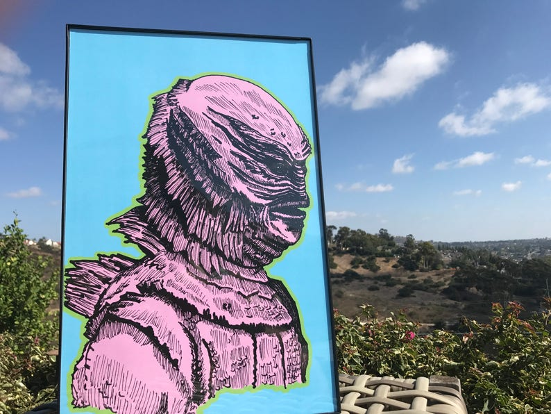 Creature from the Black Lagoon  Halloween Decor  Wall Art  image 0