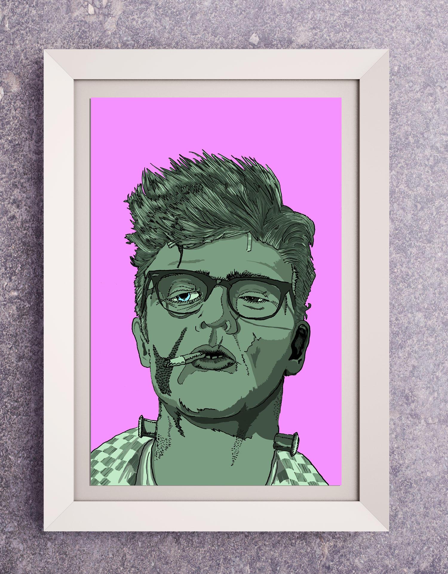 Frankenstein Hipster Movie Poster