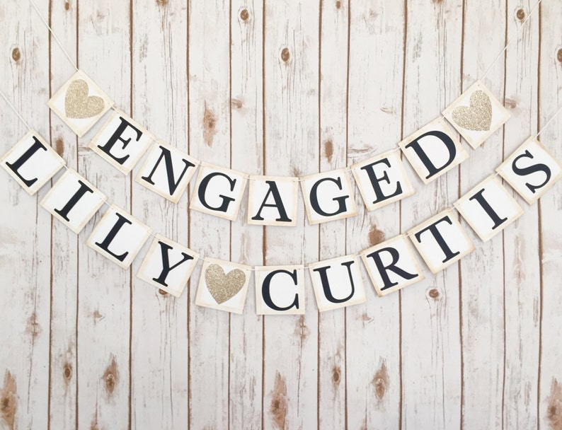 Engagement banner engaged banner engaged name bannercouples image 0