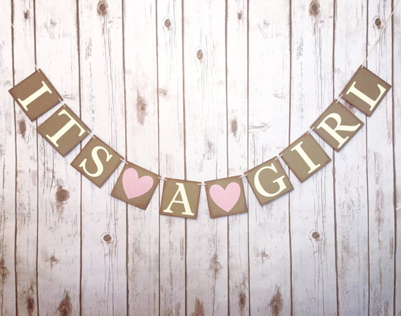 it s a girl banner baby shower banner baby shower decor etsy