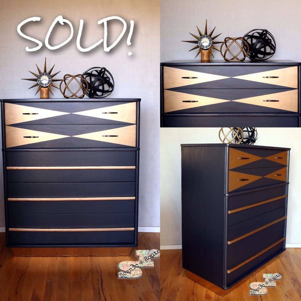 sold mid century modern chest of drawers sold etsy. Black Bedroom Furniture Sets. Home Design Ideas