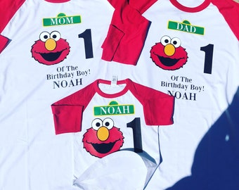 Elmo Family Birthday Ragland Or Regular T Shirts Sizes From Infant To 4X