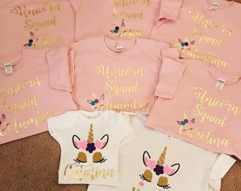 945296916 Unicorn Squad Family Shirts