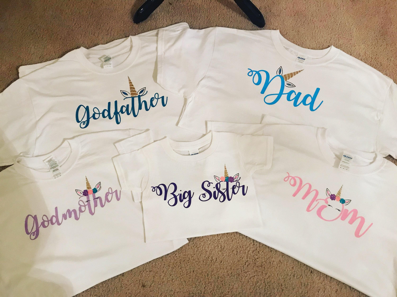 Einhorn-Familie-Shirts