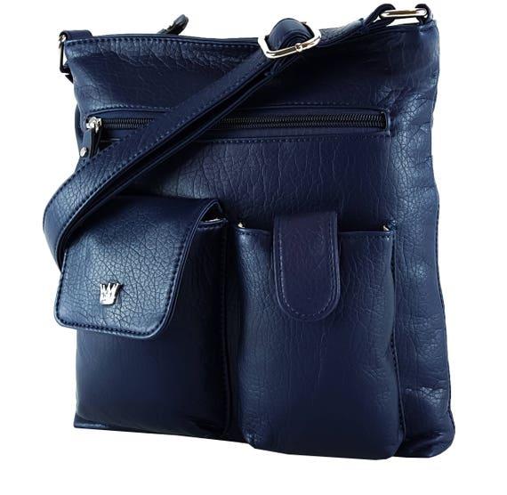 Concealed Carry Gun Purse//Bag CCW Locking Zipper Shoulder Shoulder Strap Leather
