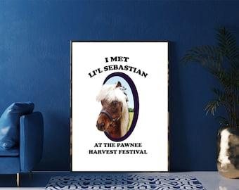 I Met Li'l Sebastian Poster, Parks & Rec Print, Li'l Sebastian Framed Print, Parks and Recreation Lil' Sebastian Artwork, TV Home Decor, Art