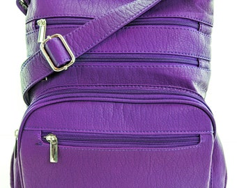 Purse King Gunner Lightweight CCW Bag with RFID Blocking Organizer - Concealed Carry Handbag - Lightweight Shoulder Bag - Personalized Purse