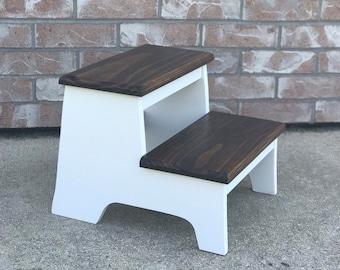 Wood step stool | Etsy