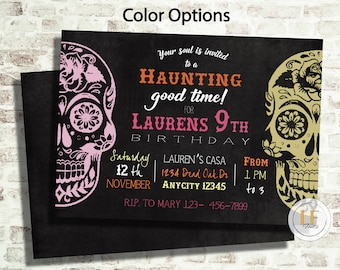 Day of the Dead Sugar Skulls Invitation
